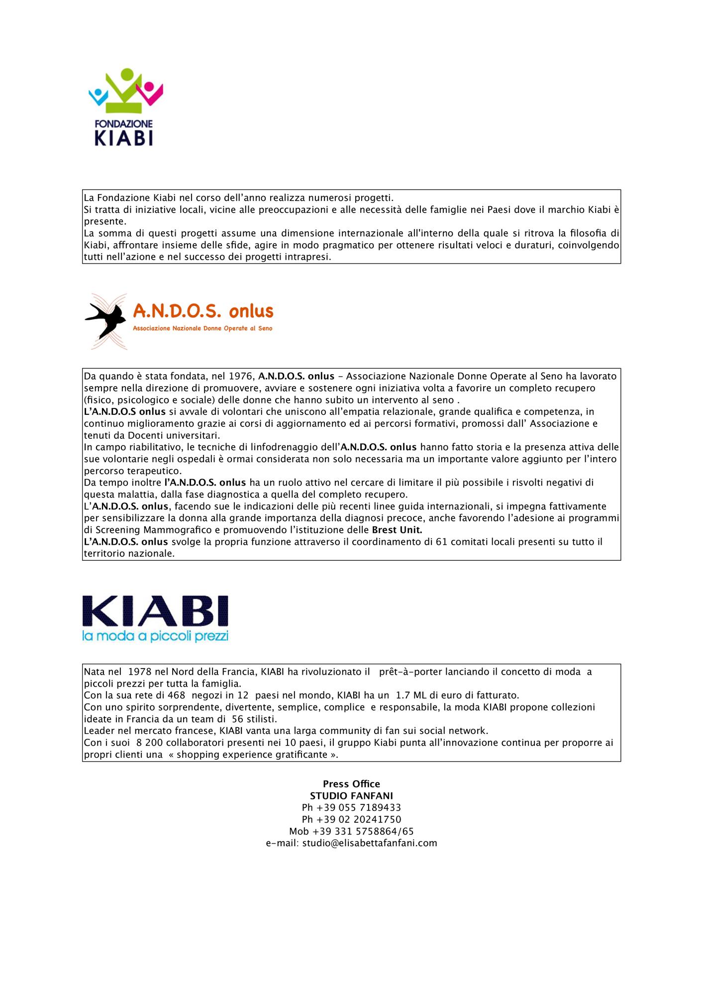 3368bbda04ef OTTOBRE ROSA: ANDOS ONLUS E KIABI DI NUOVO INSIEME - www ...